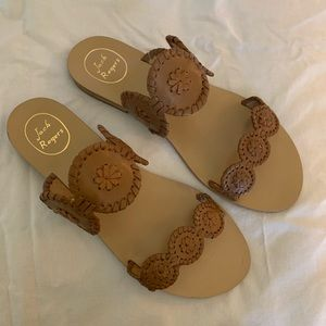Jack Rogers Lauren Sandals Tan Size10